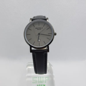 SW.POLO ASS'N 8387L IP BLACK BLACK LEATHER WATCH