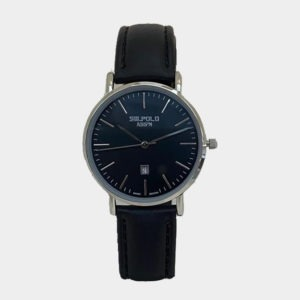 SW.POLO ASS'N 8387L S/Steel BLACK LEATHER WATCH
