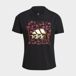 ADIDAS BIG LOGO FOIL GRAPHIC TEE