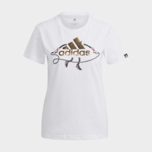 ADIDAS SPORTY LOGO GRAPHIC TEE