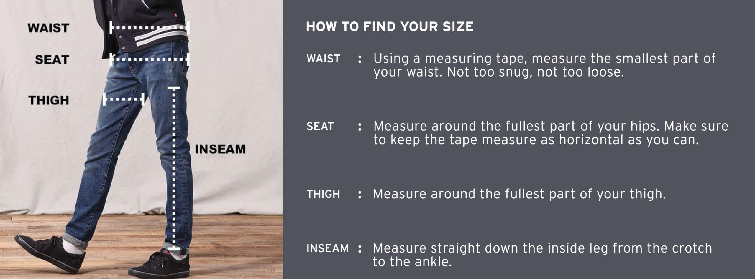 Levi's Jeans Size Chart