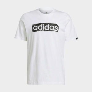 ADIDAS BRUSHSTROKE LOGO BOX PRINTED T-SHIRT
